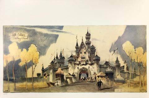 Fantasy Land Castle Entrance Concept Art Poster - ID: julydisneyana20389 Disneyana
