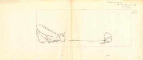 The Flintstones Layout Drawing - ID: julyflintstones20122 Hanna Barbera