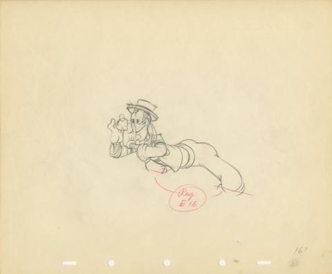 Goofy Production Drawing - ID: julygoofy20166 Walt Disney
