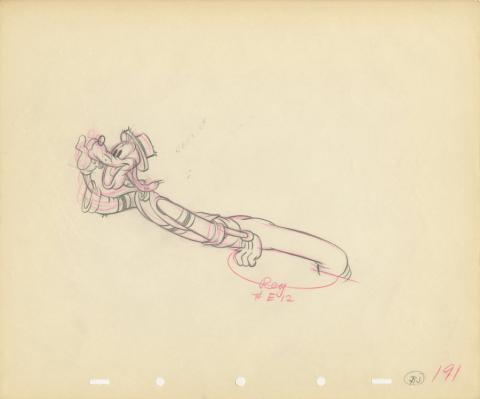 Goofy Production Drawing - ID: julygoofy20167 Walt Disney