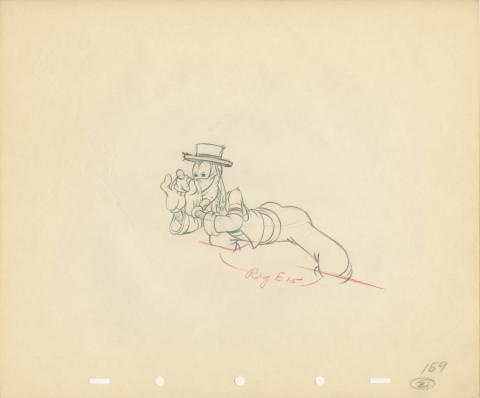 Goofy Production Drawing - ID: julygoofy20168 Walt Disney