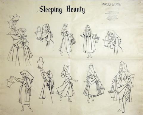 Sleeping Beauty Photostat Model Sheet - ID: julysleeping20303 Walt Disney