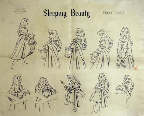 Sleeping Beauty Photostat Model Sheet - ID: julysleeping20308 Walt Disney