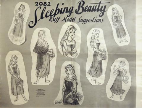 Sleeping Beauty Photostat Model Sheet - ID: julysleeping20310 Walt Disney