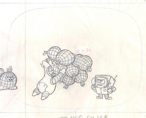 Spongebob Squarepants Layout Drawing - ID: julyspongebob20116 Nickelodeon