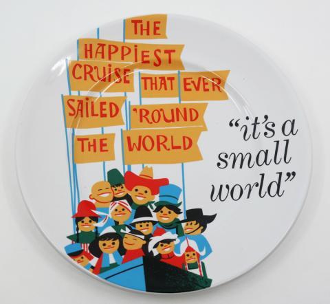 "It's a Small World Attraction Poster 7"" Plate - ID: jundisneyana20053 Disneyana"