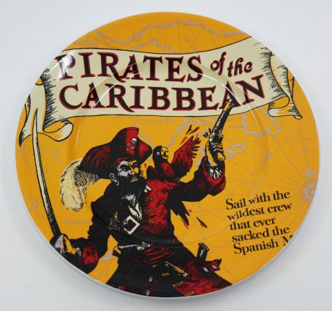 "Pirates of the Caribbean Attraction Poster 7"" Plate - ID: jundisneyana20055 Disneyana"