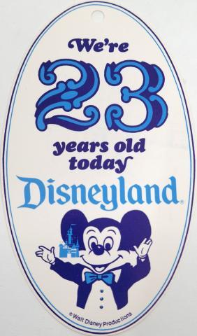 1978 Disneyland 23rd Anniversary Cast Member Tag - ID: jundisneyana20064 Disneyana