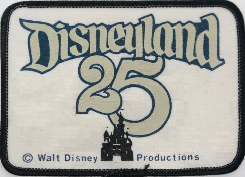 1980 Disneyland 25th Anniversary Cast Member Patch - ID: jundisneyana20066 Disneyana