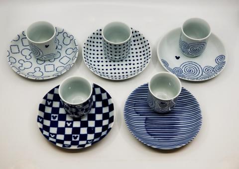 Mickey Mouse Sango Blue Plates and Cups Set - ID: jundisneyana20090 Disneyana