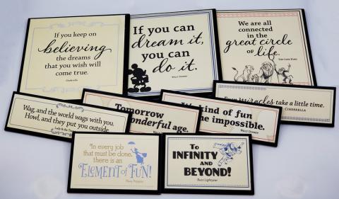 Collection of Disney Movie Quote Signs - ID: jundisneyana20174 Disneyana