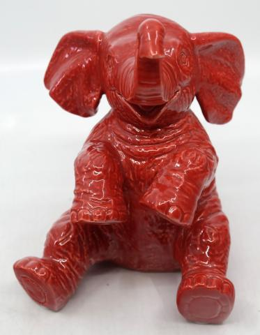 Jungle Cruise Red Ceramic Elephant Figurine - ID: jundisneyana20217 Disneyana