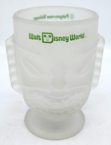 Walt Disney World Polynesian Village Frosted Glass Tiki Mug - ID: jundisneyana20256 Disneyana