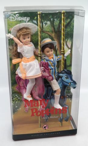 Mary Poppins Jane and Michael Barbie Dolls - ID: jundisneyana20257 Disneyana
