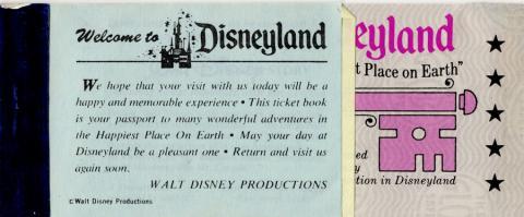 Disneyland Bicentennial Attraction Ticket Book - ID: jundisneyland20220 Disneyana