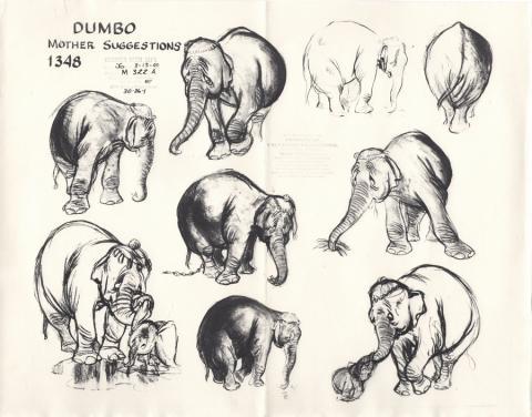 Dumbo Photostat Model Sheet - ID: jundumbo20033 Walt Disney