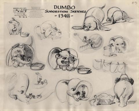 Dumbo Photostat Model Sheet - ID: junmodel20094 Walt Disney