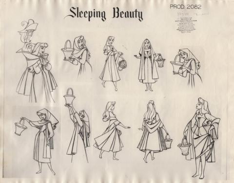 Sleeping Beauty Photostat Model Sheet - ID: junmodel20101 Walt Disney