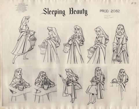 Sleeping Beauty Photostat Model Sheet - ID: junmodel20106 Walt Disney