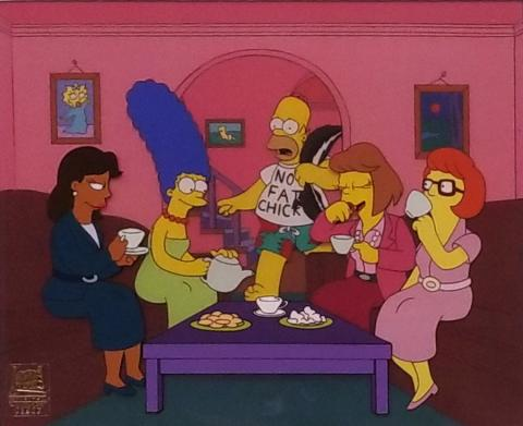 The Simpsons Production Cel - ID: junsimpsons20210 Fox