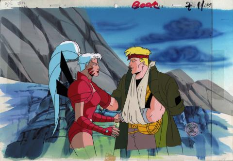Wild C.A.T.s Production Cel and Background - ID: junwildcats20134 Nelvana
