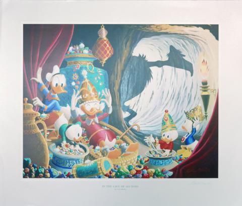 In the Cave of Ali Baba Carl Barks Print - ID: marbarks19145 Walt Disney