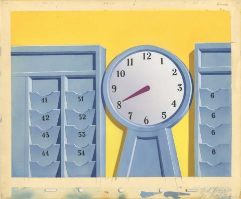 The Clock Watcher Production Background - ID: mardonald20021 Walt Disney