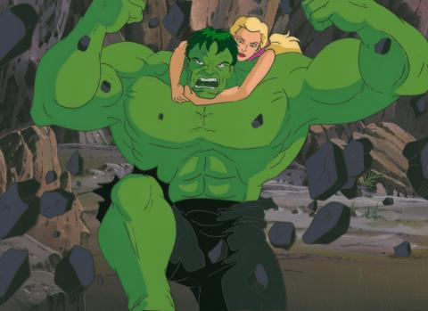 Incredible Hulk Production Cel & Background - ID: may19010 Marvel