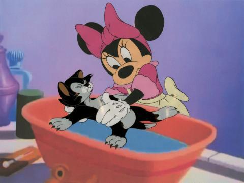 Bath Day Production Cel - ID: minnie9508 Walt Disney