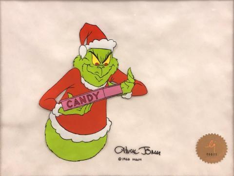 How the Grinch Stole Christmas Production Cel - ID: novgrinch20004 Chuck Jones