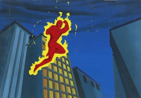 Fantastic Four Production Cel and Background - ID: octfantfour20229 Marvel