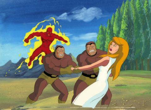 Fantastic Four Production Cel and Background - ID: octfantfour20236 Marvel