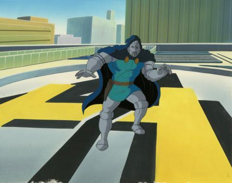 Fantastic Four Production Cel and Background - ID: octfantfour20239 Marvel