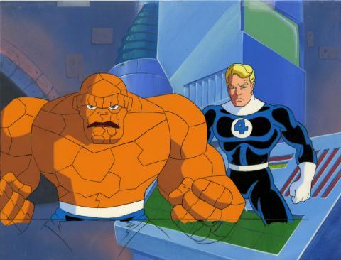 Fantastic Four Production Cel and Background - ID: octfantfour20242 Marvel