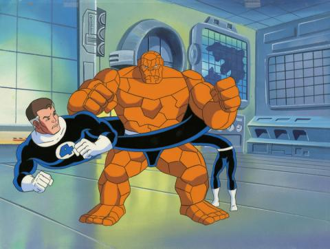 Fantastic Four Production Cel and Background - ID: octfantfour20278 Marvel