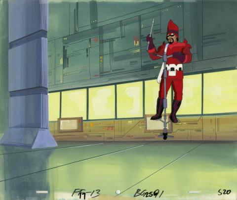 Fantastic Four Production Cel and Background - ID: octfantfour20285 Marvel