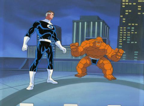 Fantastic Four Production Cel and Background - ID: octfantfour20292 Marvel