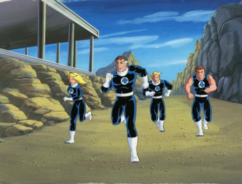 Fantastic Four Production Cel and Background - ID: octfantfour20298 Marvel