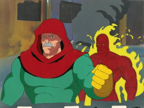Fantastic Four Production Cel and Background - ID: octfantfour20307 Marvel