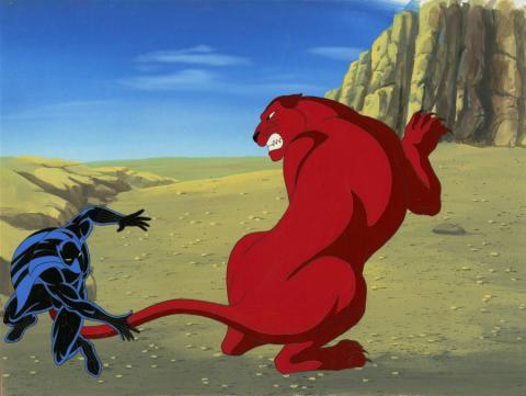 Fantastic Four Production Cel and Background - ID: octfantfour20311 Marvel