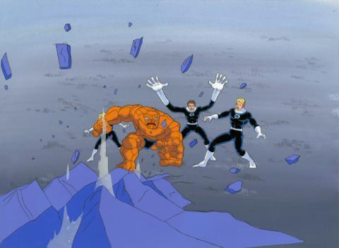 Fantastic Four Production Cel and Background - ID: octfantfour20323 Marvel