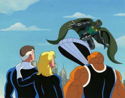 Fantastic Four Production Cel and Background - ID: octfantfour20409 Marvel