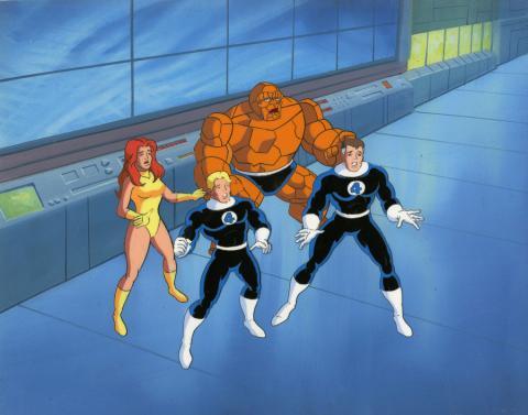 Fantastic Four Production Cel and Background - ID: octfantfour20417 Marvel