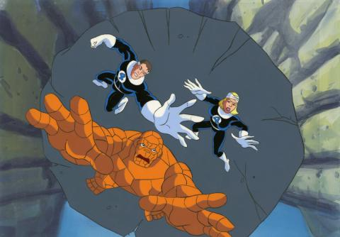 Fantastic Four Production Cel and Background - ID: octfantfour20420 Marvel