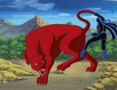 Fantastic Four Production Cel and Background - ID: octfantfour20423 Marvel