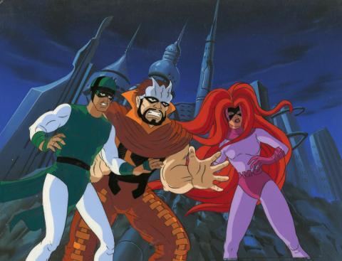 Fantastic Four Production Cel and Background - ID: octfantfour20430 Marvel