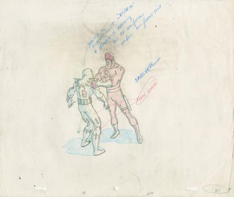 Fantastic Four Production Drawing - ID: octfantfour20468 Marvel