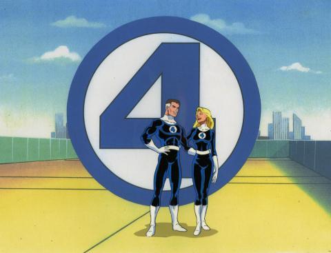 Fantastic Four Production Cel - ID: octfantfour20689 Marvel