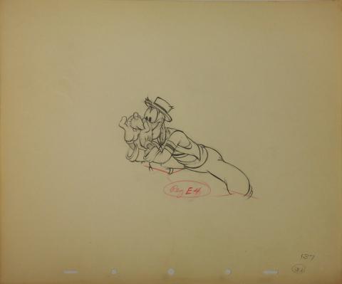 Goofy & Wilber Wooly Reitherman Production Drawing - ID: octgoofy0114 Walt Disney