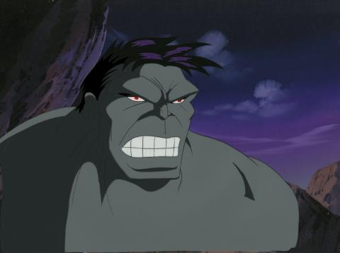 Incredible Hulk Production Cel and Background - ID: octhulk20452 Marvel